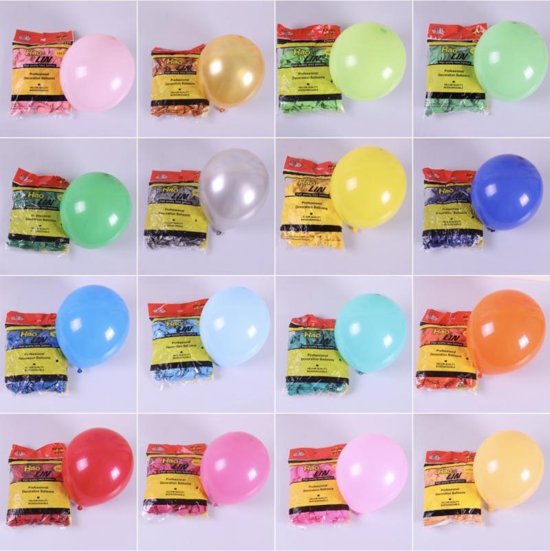 BTRUDI 50pcs Colour Latex birthday balloons 10inch 2.2g Baby Blue Pink Birthday Event Party Wedding Mint Green Decor S
