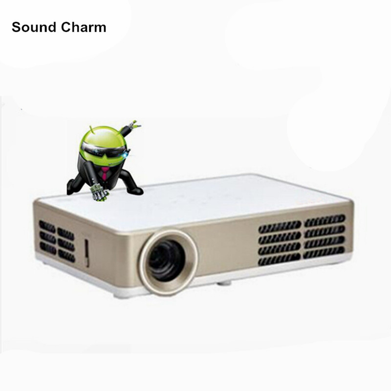 Newest Built in Android wifi full HD 1080p mini LED DLP active shutter 3D projector,convert 2D to 3D proyector цены