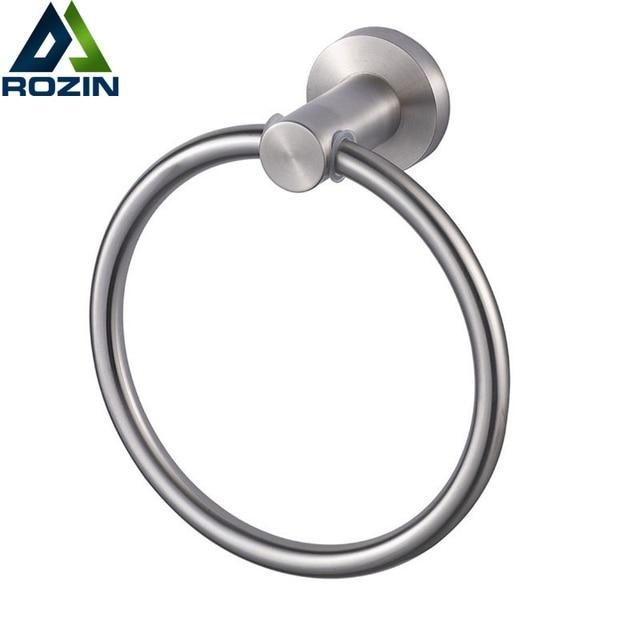 Free verzending groothandel en retail rvs ronde ring handdoekhouder ...
