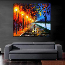 100%Handpainted Abstract The Journey Home Knife Oil Painting On Canvas Thick Oil Painting For Home Decor As Best Gift