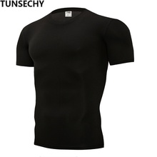 TUNSECHY Summer Fashion Brand tight pure color T-shirts 13 kinds color 100% Poly