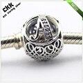 Serve pandora encantos pulseiras 100% jóias de prata esterlina 925 do vintage da letra a beads com limpar cubic zirconia frete grátis
