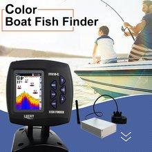 LUCKY FF918-CWLS Портативный Водонепроницаемый эхолокатор для установки на лодке с Цветной Экран Дисплей Sonar Сенсор 300 M дистанционного Управление
