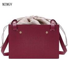 2019 new women's DrawString shoulder bag ladies retro high quality PU leather Messenger bag mini evening bag цена 2017