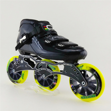 High Quality Carbon Fiber Speed Skating Special Racing Shoes Adults Professional Inline Speed Skates Shoes 3X110mm Wheel