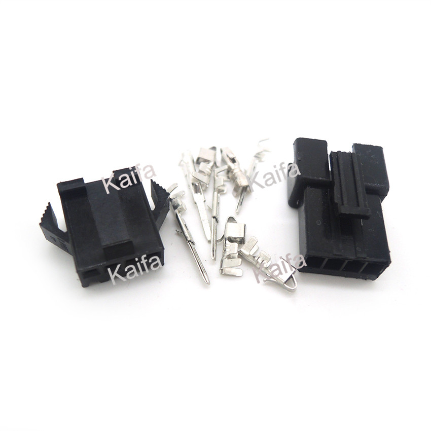 10 Sets JST 2.54mm SM 4 Pin 4 Way Multipole Connector plug With ternimal male and female free shipping