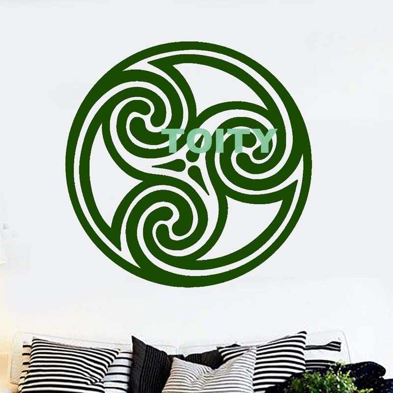Vinyl Wandtattoo Celtic Kreis Muster Irish Irland Irishman Aufkleber Art Fenster Wandbild H57cm X W57cm 22 5 X 22 5 Aliexpress