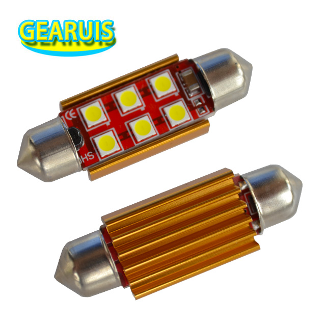 100pcs Festoon canbus 3030 LED 6 smd 4 smd Non polar 0 19A 31mm 36mm 39mm