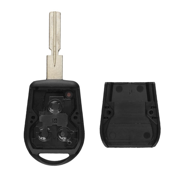 KEYYOU 3 Button Uncut Blade Car Key Replacement Remote Key Case Shell for BMW E31 E32 E34 E36 E38 E39 E46 Z3 Fob Uncut key case