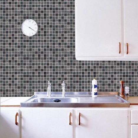 Brand classic mosaic sticker bathroom 50cm 50cm toilet - Autocollant salle de bain ...