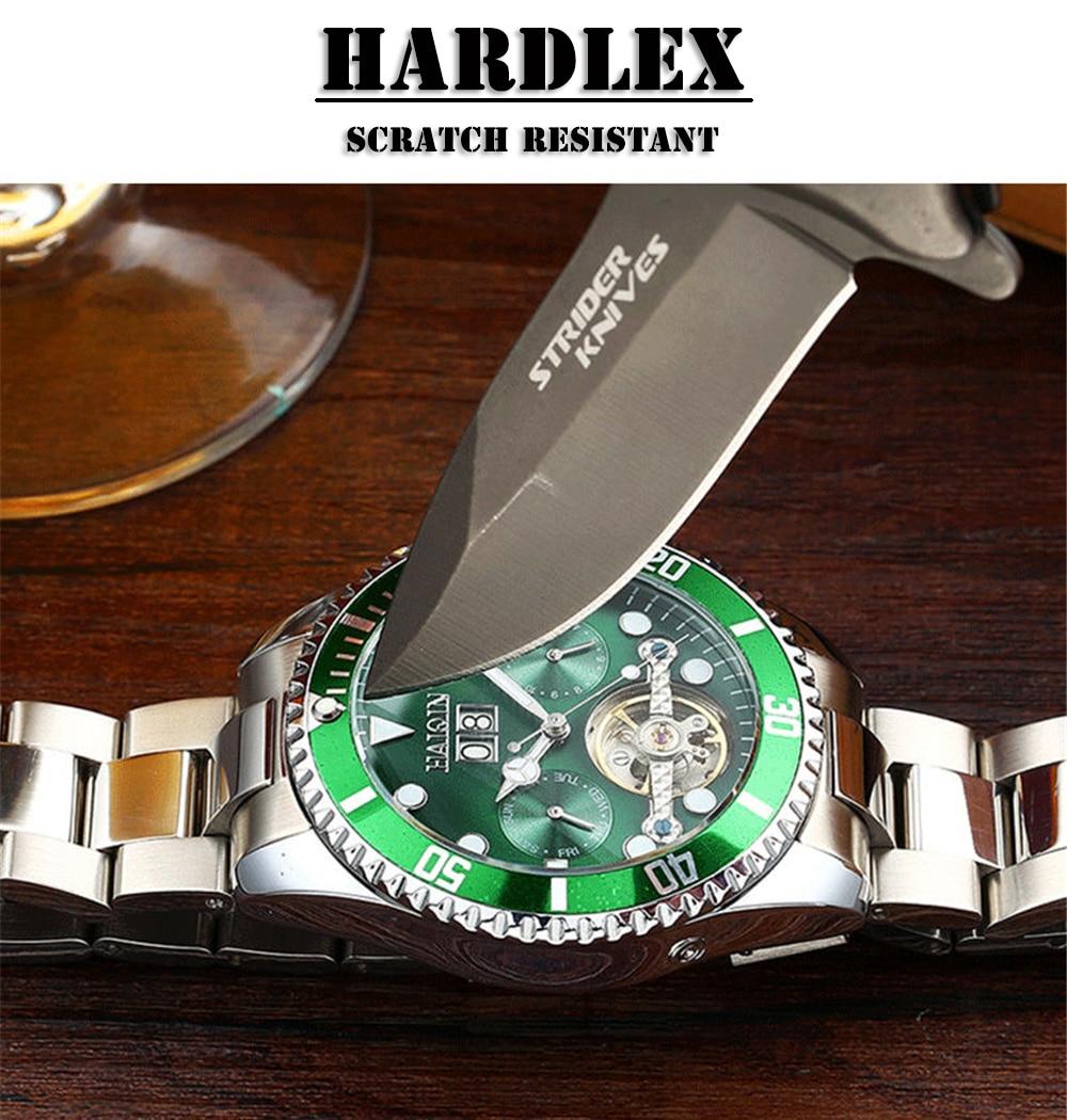 Haiqin mecânico relógio de negócios luxo presente