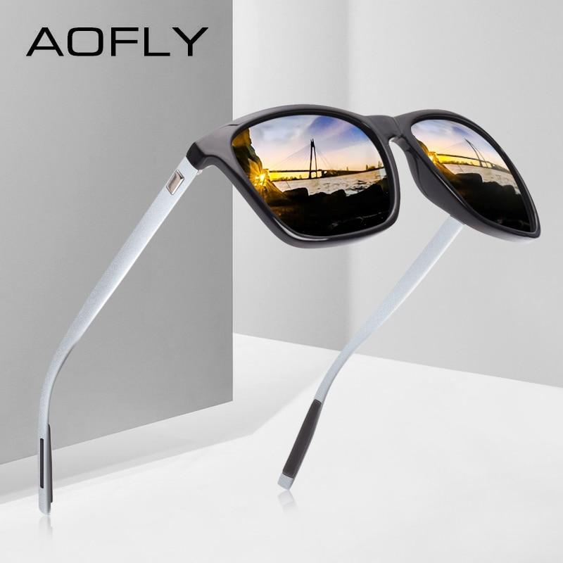AOFLY klasiskās polarizētās saulesbrilles modes stilā - Apģērba piederumi