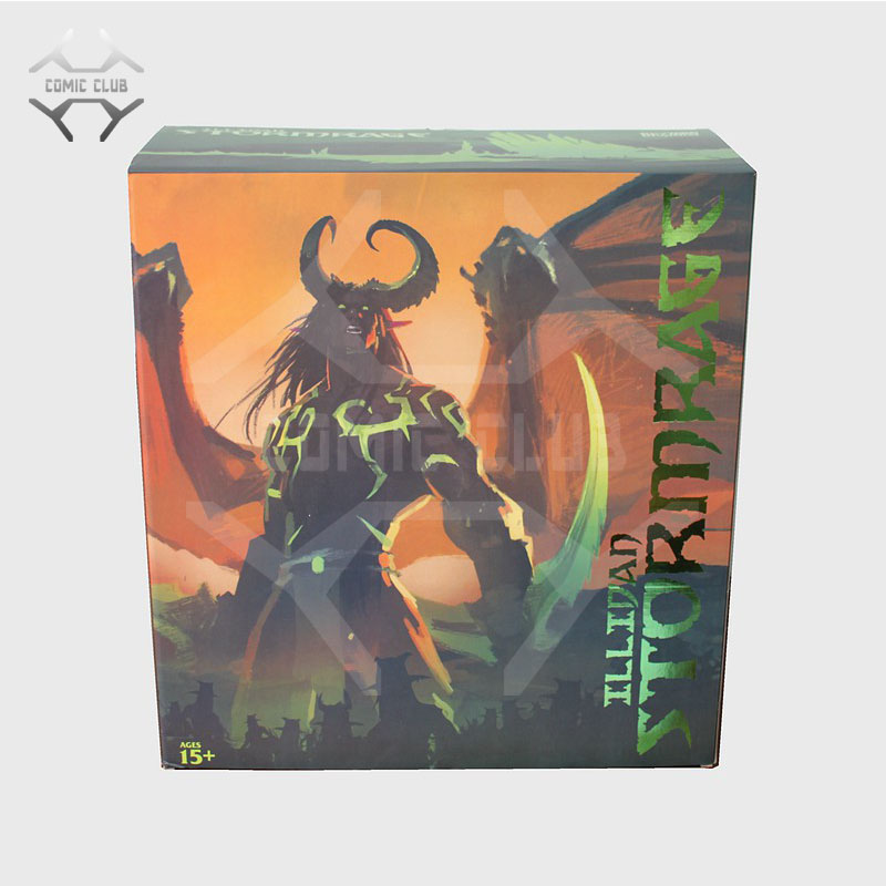 COMIC CLUB IN-STOCK wow Illidan 60cm height gk pvc statue contain led light figure for collection
