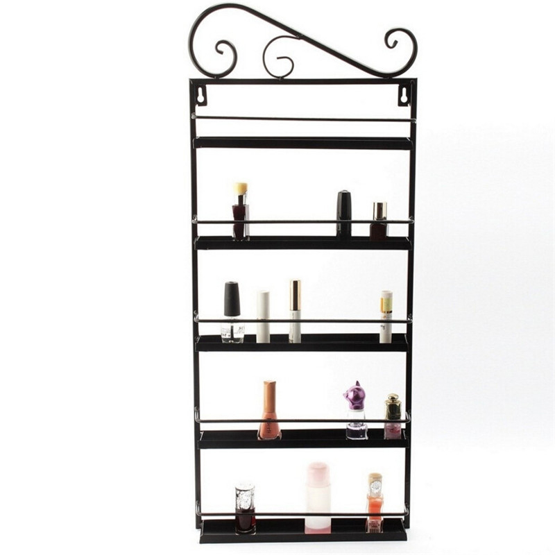 LEARNEVER 3pcs Nail Polish Shelves Cosmetic Display Rack Hanging Nail Polish Shelf Hanging Wrought Iron Art Nail Polish Shelves