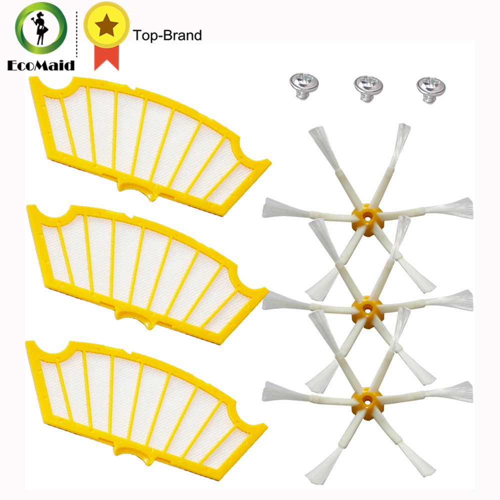 Replacement Kit For iRobot Roomba 500 Series Vacuuming Robots Parts Vacuum Cleaner Accessories 6-armed Side Brushes Filters irobot щетка для scooba 450