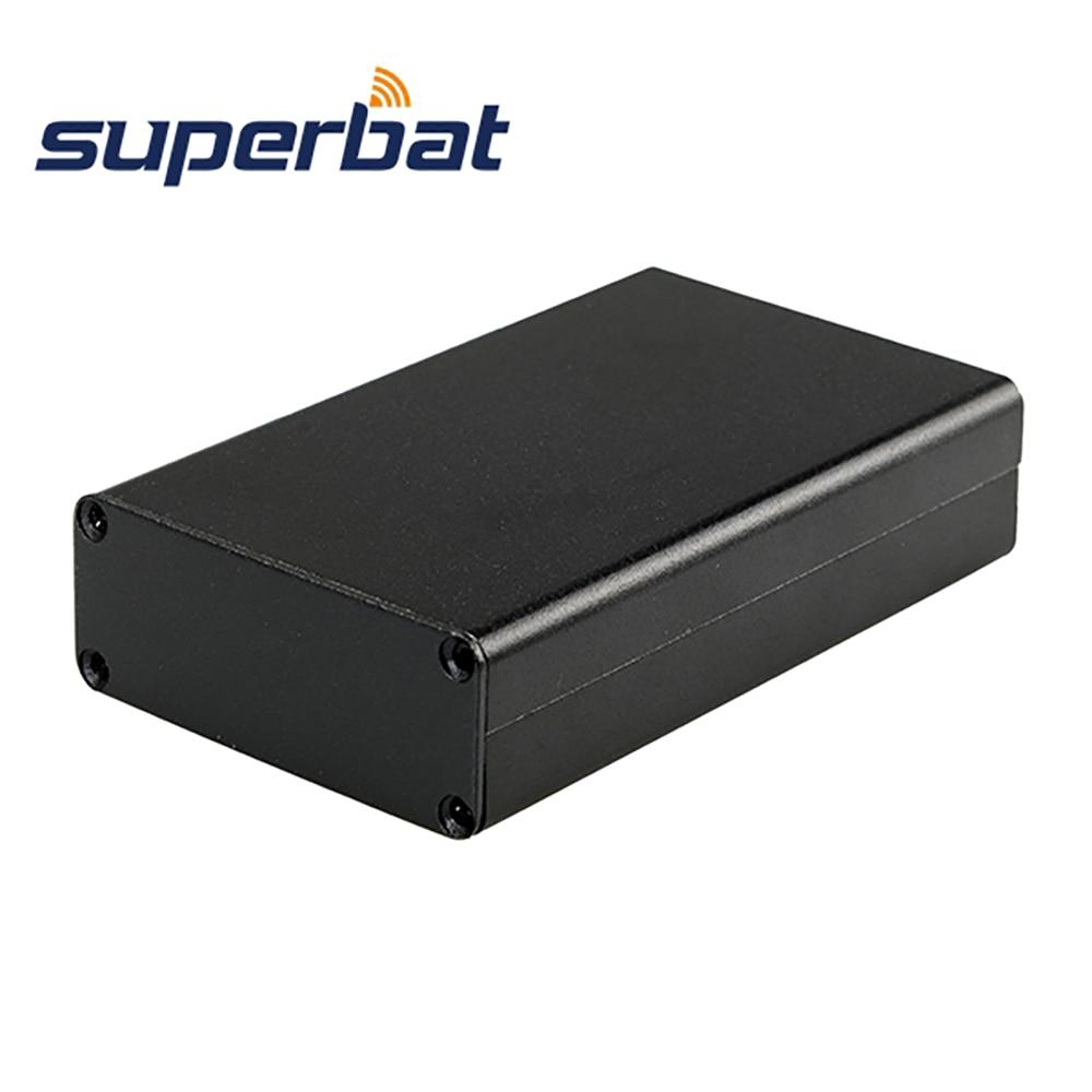 3.15″*1.97″*0.79″ Aluminum Junction Box Electronics Project Instrument Amplifier PCB Enclosure Case DIY 80*50*20mm Black Screws