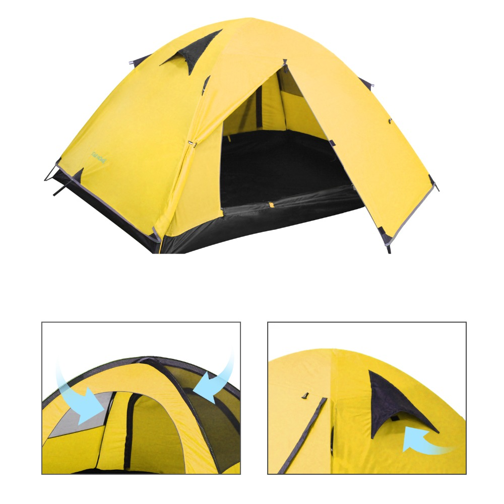 Tents Outdoor Camping Waterproof Tents 2 Person Lightweight Tent Aluminum Rod Double Layer Tent