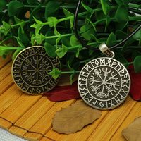 1pcs VALKNUT ODIN S SYMBOL OF NORSE RUNIC PENDANT NECKLACE Viking Runes Vegvisir Compass Pendant Dragon
