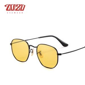 Image 4 - 20/20 ماركة للجنسين النظارات الشمسية الرجال الاستقطاب خمر ساحة ريترو نظارات شمسية للنساء المعادن نظارات Gafas 17033 2