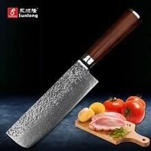 Sunlong 67 schichten damaststahl küchenmesser muster stahl scheibe messer Cleaver Melaleuca stahl kochmesser gemüse/fleisch messer