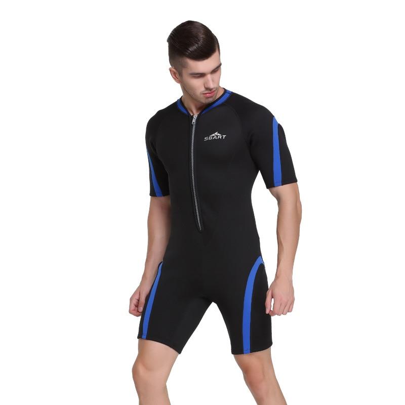 Sbart 2mm néoprène combinaisons hommes plongée sous-marine complet costumes à manches courtes homme plongée costume surf voile natation une pièce DBE - 3