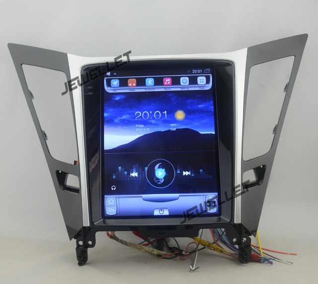 "10.4"" tesla style vertical screen android 6.0 Quad core Car stereo multimedia video player for Hyundai i45 Sonata 2011-2014"