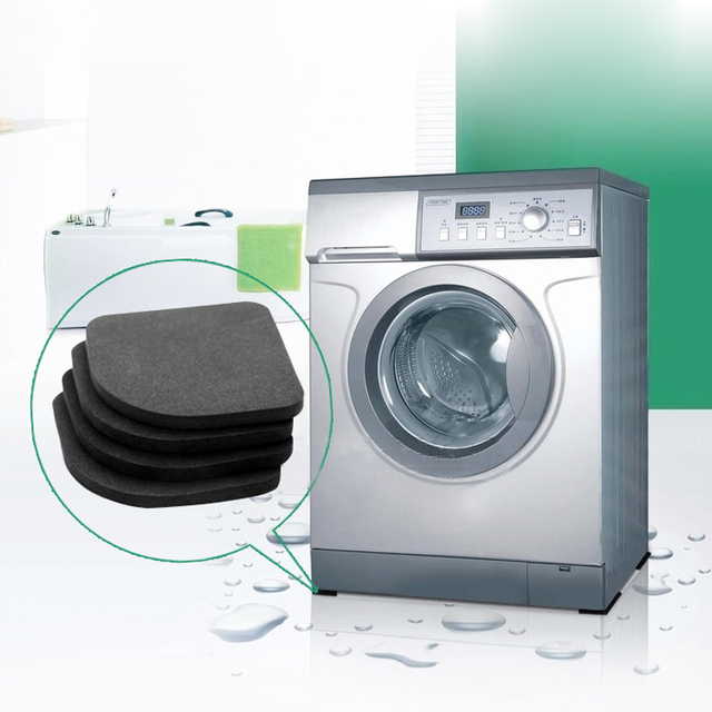 4 pc di Lavaggio Macchina Pad Frigorifero Pavimento Protezioni Anti Vibrazione M