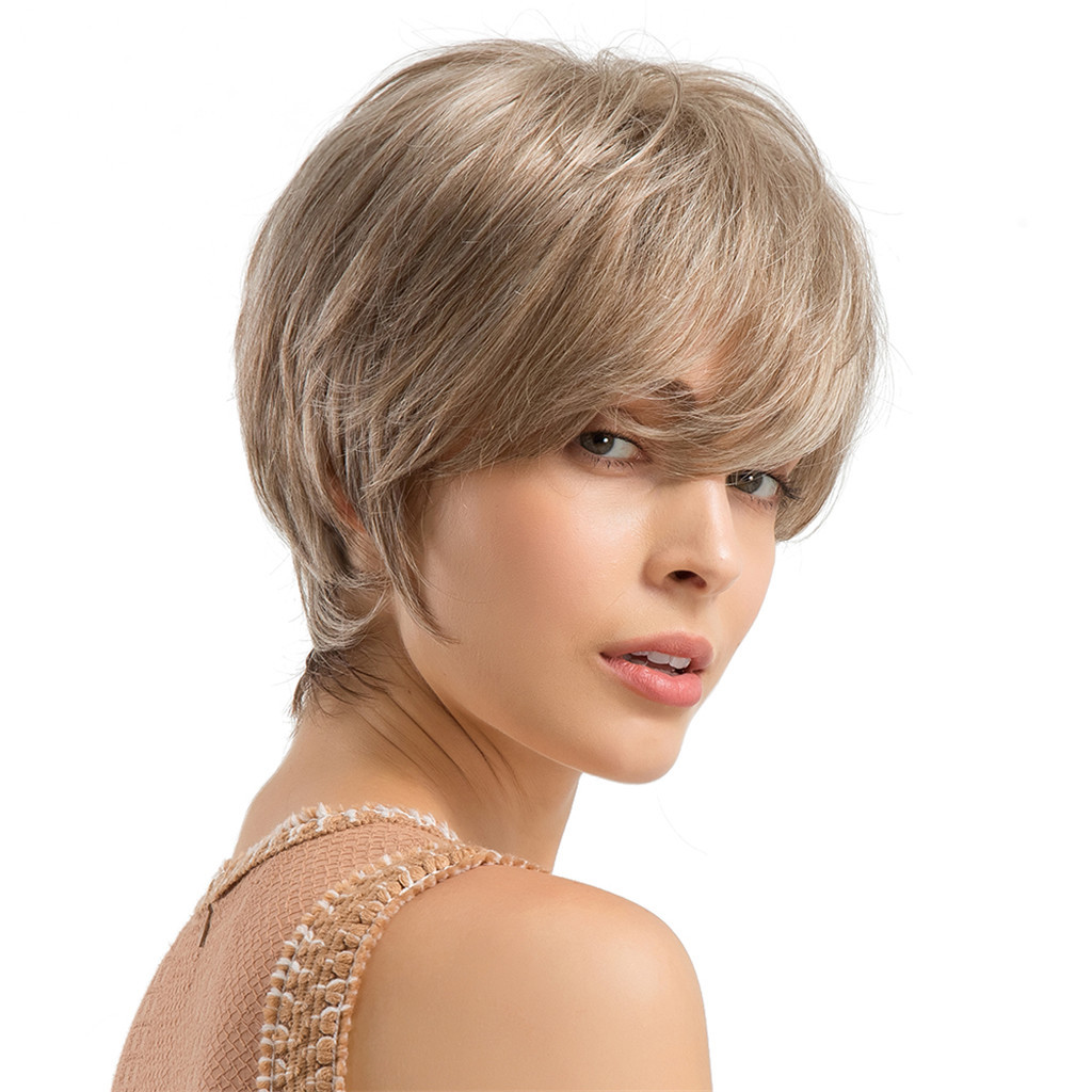 New Short Curly Women wig High Quality Hairstyle Human Hair Wigs For And Generous hair extensions Cosplay party 24cm Dec24