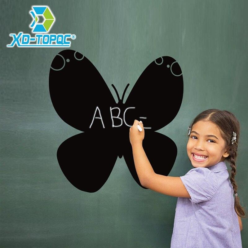 Hot Sell New Removable Blackboard Stickers Black Butterfly Children's Bedroom Chalkboard Sticker Lousa Free Shipping