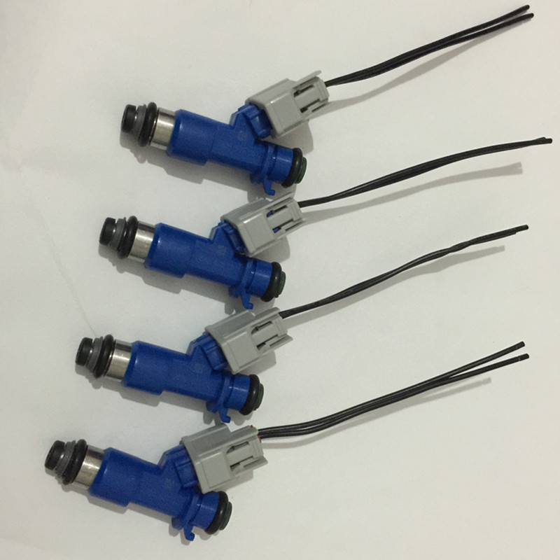 4x 410cc RDX Fuel Injector With Plugs 16450RWCA01 16450-RWC-A01 For Acura HONDA 07-12 Honda Civic Integra RSX K20 K24 B16 B18