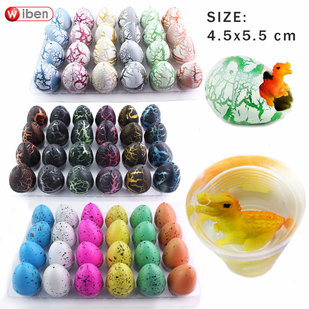 Wiben 24pcs/lot Novelty Gag Toys Children Toys Cute Magic Hatching Growing Dinosaur Eggs For Kids Educational Toys Gifts T004 creative dinosaur egg interactive cute fantastic hatching egg with plush animal novelty gag toys growing dinosaur eggs