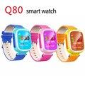 Crianças Q80 Smartwatch telefone GPS Relógio Inteligente Relógio de Pulso SOS Rastreador ligue Location Finder Dispositivo Seguro Anti Perdido PK Q50 Q60 Q90