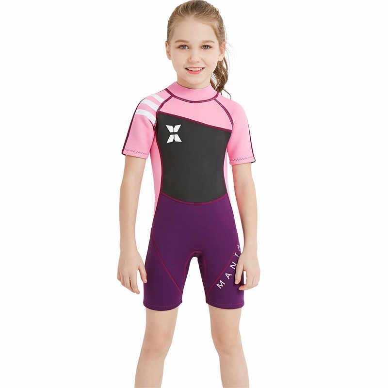 2.5mm Neopreen dalgıç giysisi UV Koruma Termal Mayo Sıcak Mayo Çocuk Tam Vücut Şnorkel Bodysuits Döküntü Bekçi