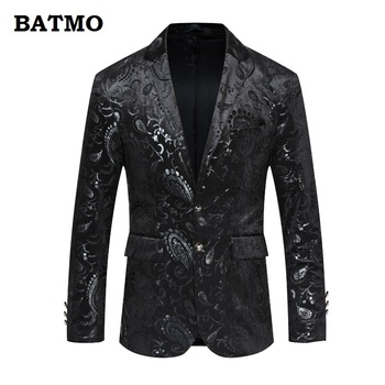 Batmo 2018 new arrival high quality printed casual blazers men,men's casual suits,printed men's jackets plus-size  224