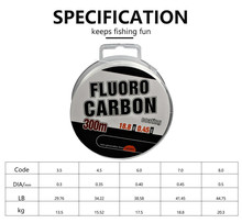 Fishing Line Monofilament 300M/330Yard Fluoro Carbon Coating Imported Strong Nylon Carp