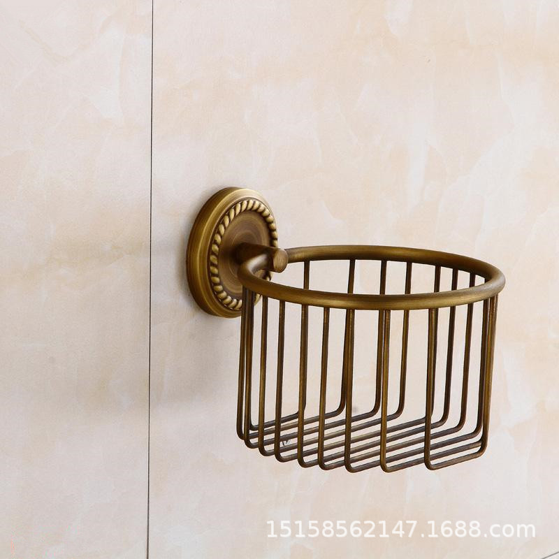European style copper antique paper towel holder toilet - Bathroom accessories paper towel holder ...