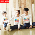 BEKE MATA Family Matching Clothing Spring Family Look Father Son Sweater Set Cotton Matching Mother Daughter Clothes Outfits