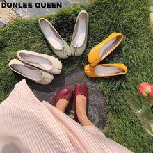 купить 2019 Flats Hoof Shoes Women Shoe Shallow Ballet Shoes Novelty Slip On Loafers Casual Flat Shoe For Women Ballerina zapatos mujer дешево