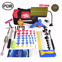 Super PDR Tools For Dent Removal Paintless Dent Repair Tools LED Lamp Reflector Board Dent Puller Hammer Fungi Hand Tools Set