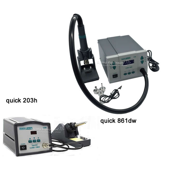ESD LED Digital BGA Rework Solder Station 203H Hot Air Gun Electric QUICK Spot 861DW f 204 mobile phone laptop bga rework reballing station hot air gun clamp