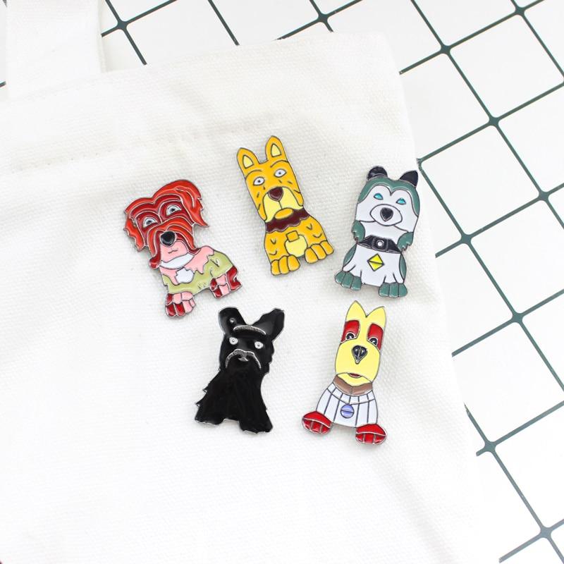 Cartoon Pet Dog Brooch Husky golden Retriever Sled Dog Teddy Puppy Satsuma Enamel Pin Denim Backpack Animal Badge Friends Gifts