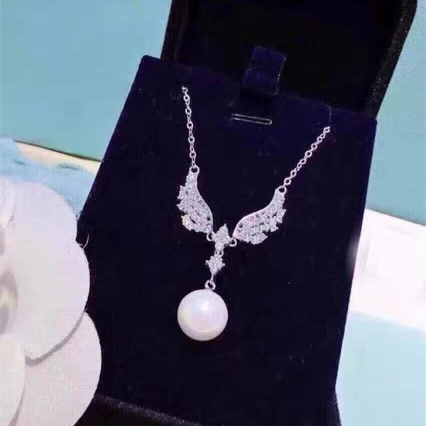 Designer de Moda 925 Sterling Silver Jewelry Platinadas 3A Cubic Zirconia Partido Colar de Asa