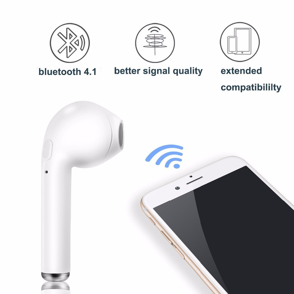 2416819f6e8 TWS i7 Dual Wireless Bluetooth Headphones V4.1 In Ear Stereo Earbud ...
