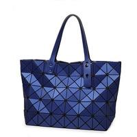 Women Bao Bao Bag Ladies Geometry Handbag Matte Laser Plain Folding Bags Handbags Women Bao Bao