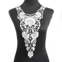 1pcs Fabric Flower Lace Sewing Applique Lace Collar Neckline Collar Applique Diy Craft Neckline Sewing Accessories NL111