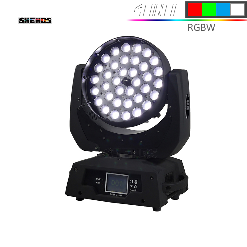 LED Washing Zoom Moving Head Light 36x12W/15W/18W RGBW Touch Screen Suitable For DMX Stage Light Professional Stage Light