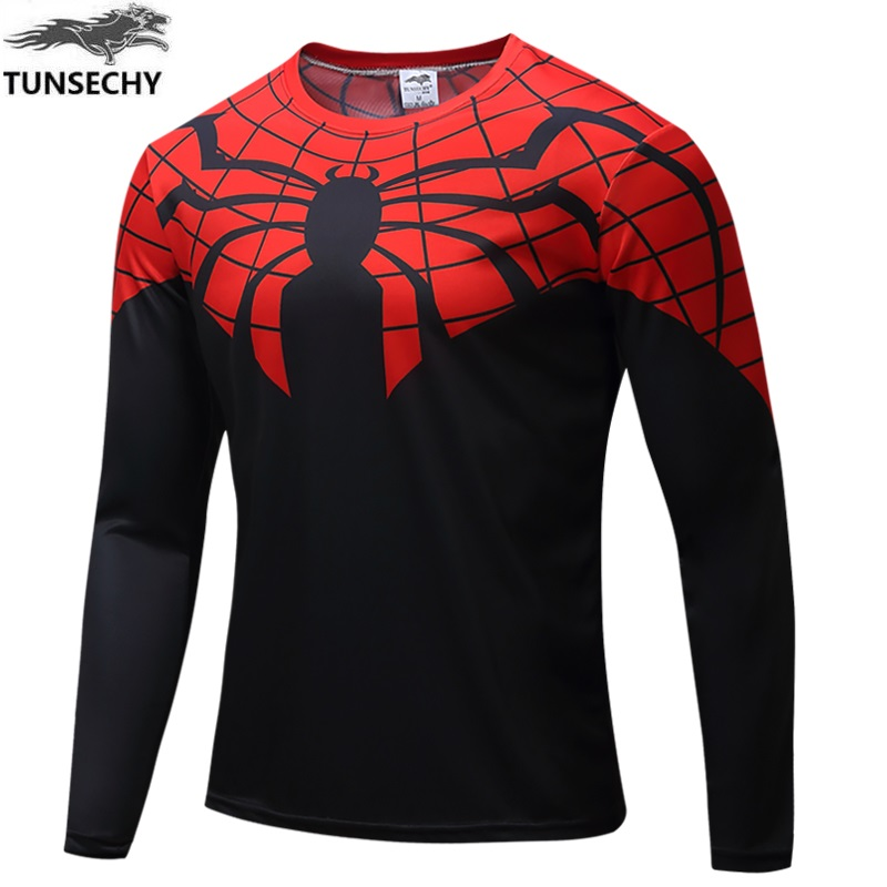 High quality NEW 2017 miracle 3d superhero captain America 2 soldiers in winter clothing shirt long sleeve movement T-shirt man