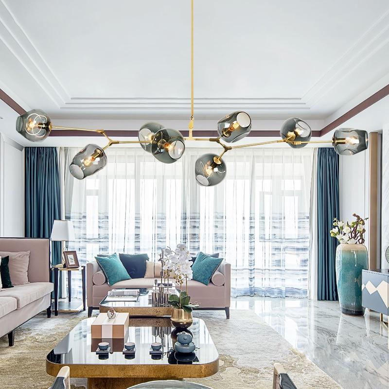 Style nordique magique haricots lustre personnalité créative postmoderne simple salon lumières restaurant lyingLED