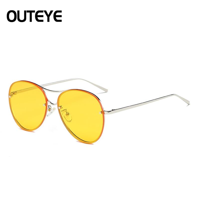 Lega 1 Lusso Della 3 6 Outeye Sole Ovale Candy Eyewear Occhiali 5 Del Di 2017 4 Donna Progettista Dell'annata Modo Da Donne Freddo 7 Marca 2 PTvxHHpw