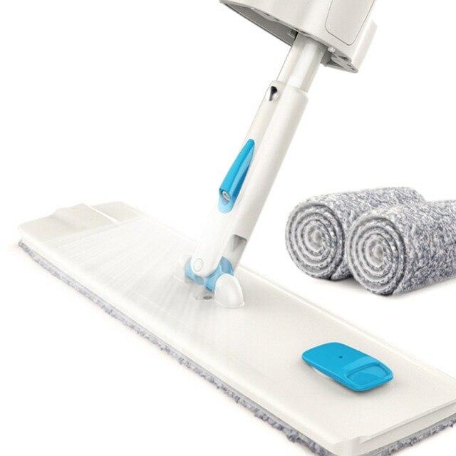 Narzędzia do czyszczenia podłogi Mop z mikrofibry płaski Mop obrotowy Self Wringing nie ma potrzeby do mycia rąk na mokro i na sucho Mop podłogowy z 2 mopów